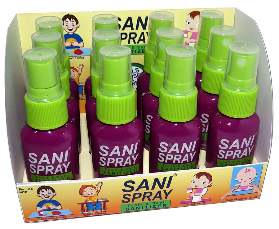 Sani Spray in box - front view - small