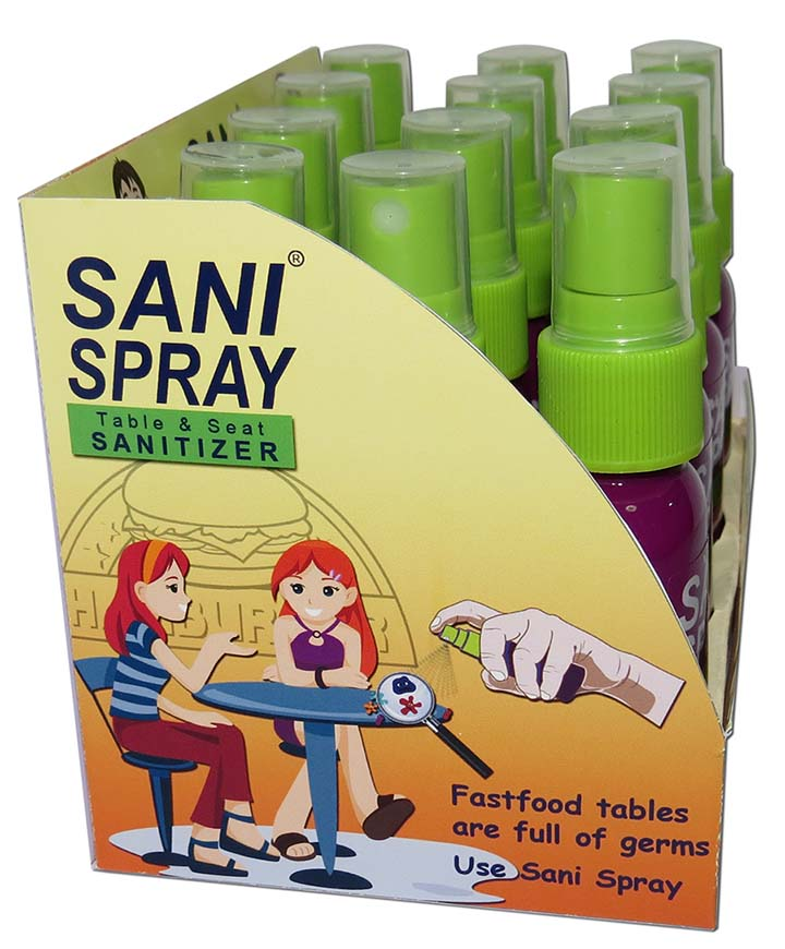 Sani Spray in box - side view - small
